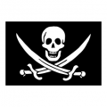 Стикер Флаг с череп