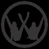 VW лого с момичета